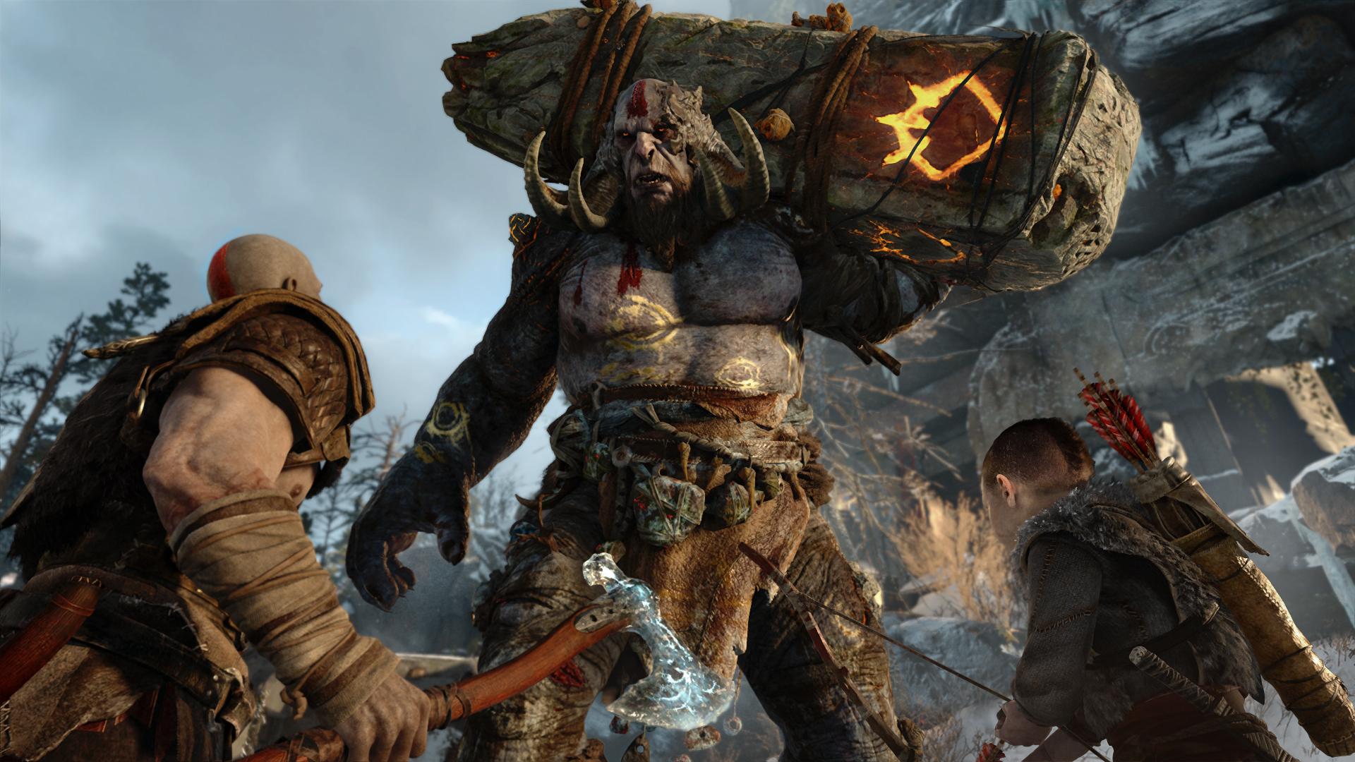 В новом трейлере God of War показали битву между великаном Тамуром и Тором