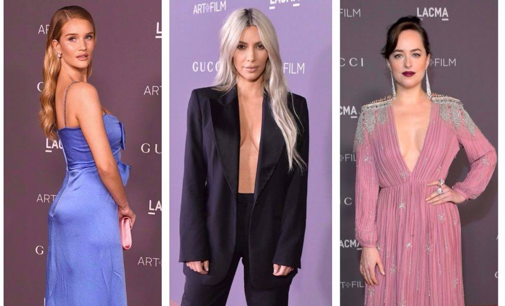 LACMA Art + Film Gala: celebrity in Gucci gowns.