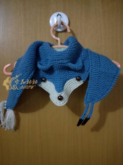 """针织""""蓝云狐---狐狸围巾"""" - maomao - 我随心动"""