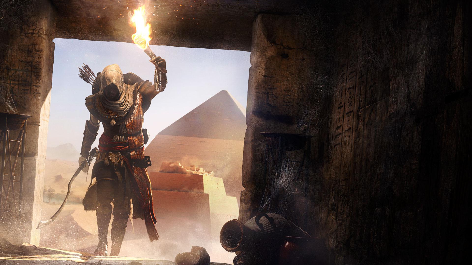 Игрок проник в секретную гробницу Final Fantasy XV в Assassin's Creed: Origins, используя читы