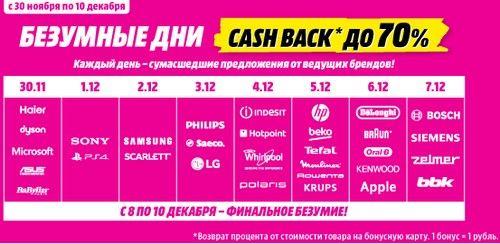 Промокод Media Markt. Cash back до 70%!