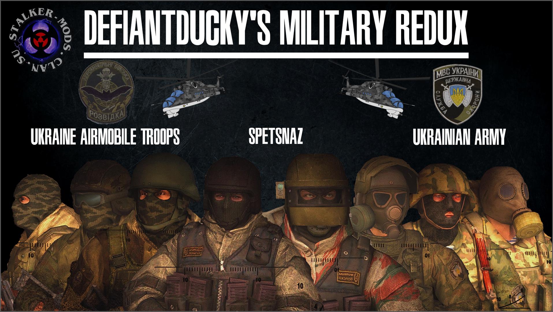 группировка военные - пак 3д моделей для игры сталкер