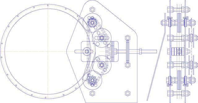 Гибочный станок для ведомого шкива Кометы.