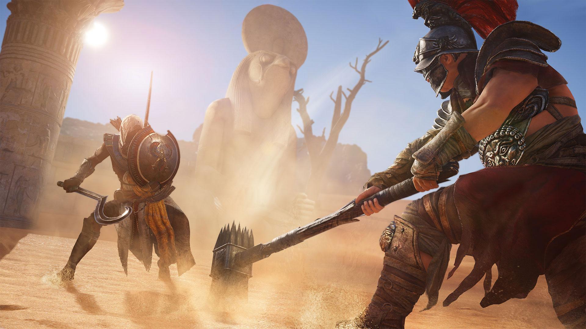 Взгляните на гладиаторскую экипировку в Assassin's Creed: Origins