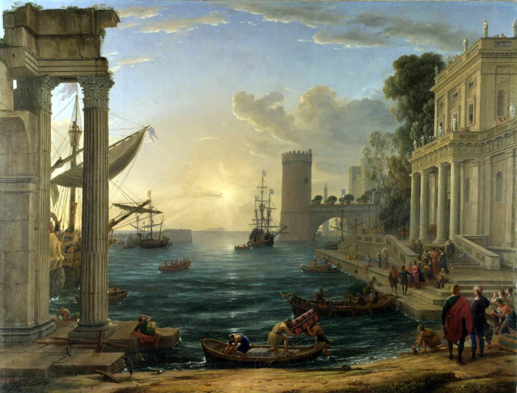 Claude Gellée (Lorrain) – Seaport with the Embarkation of the Queen of Sheba (1648) c