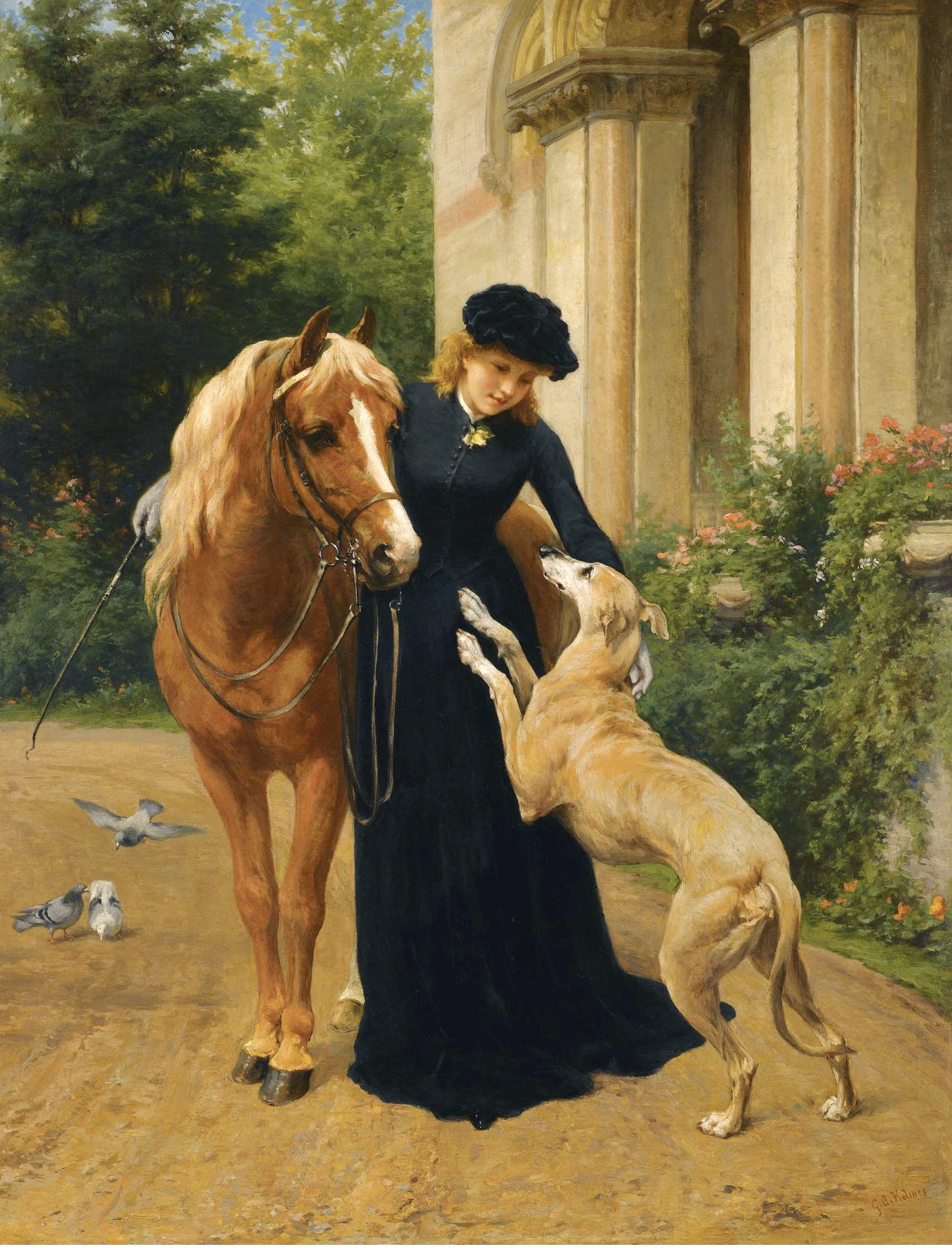 George Augustus Holmes (1822-1911) Welcome Home