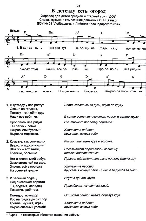 Детские песни, минусовки бесплатно песни и ноты малышам от