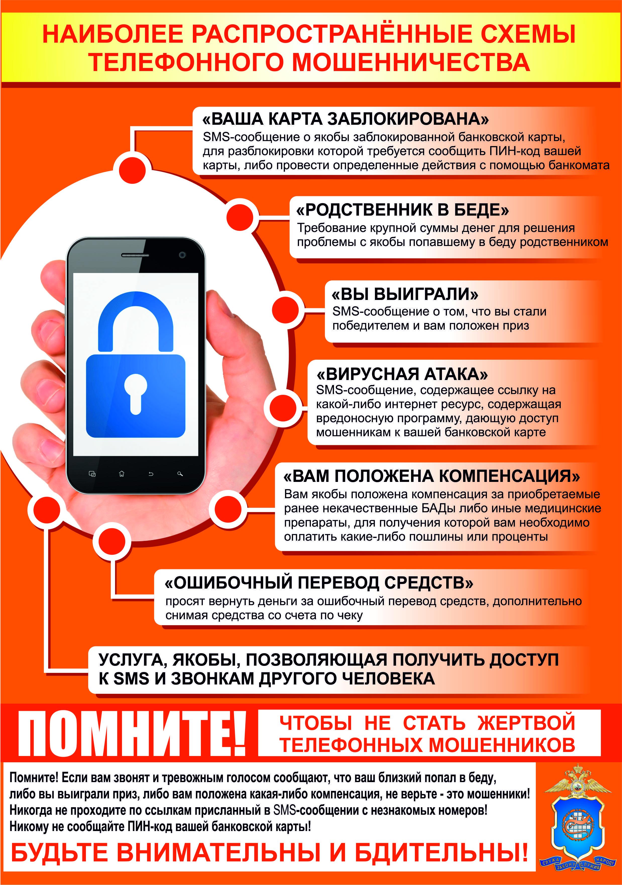 Схема телефонного мошенничества