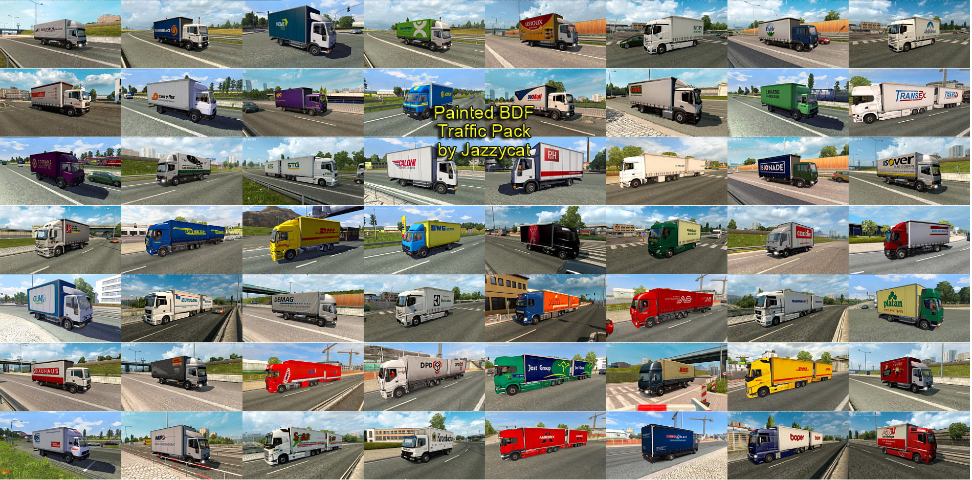 Painted BDF Traffic Pack v2.6 by Jazzycat