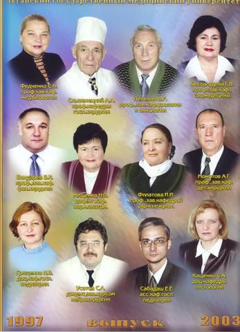ВЫПУСК 2003 - Педиатрический Факультет
