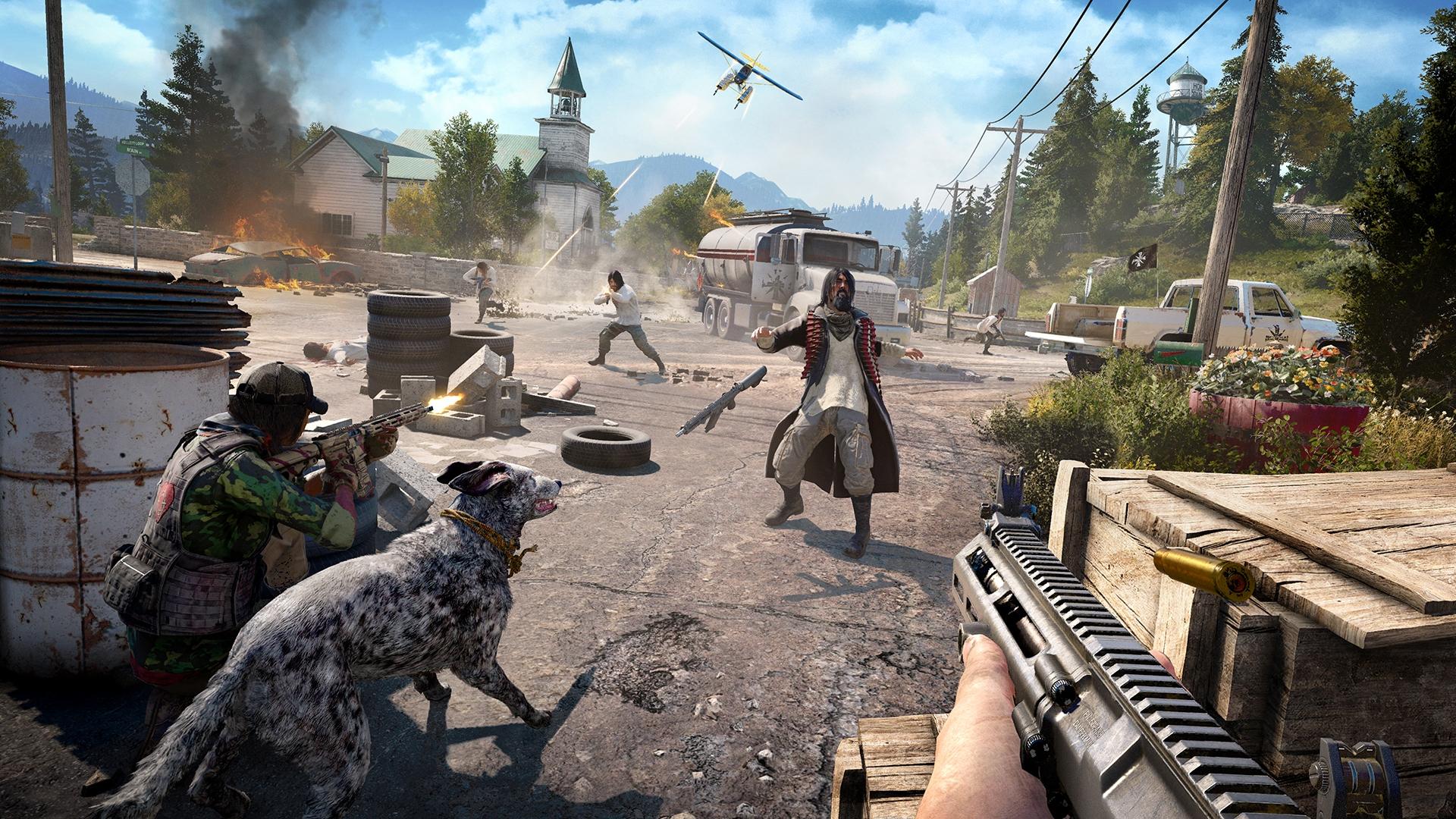 В новых геймплейных видео Far Cry 5 показали управление транспортом и диких зверей