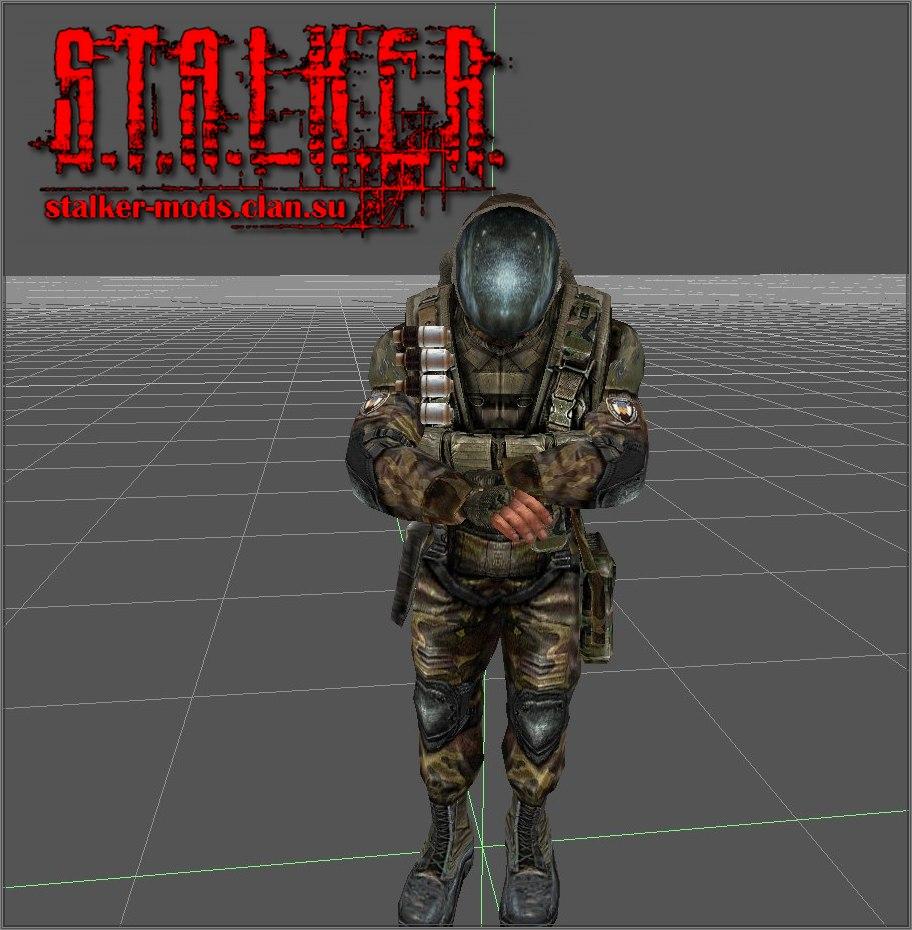 модель военного в шлеме от костюма сева