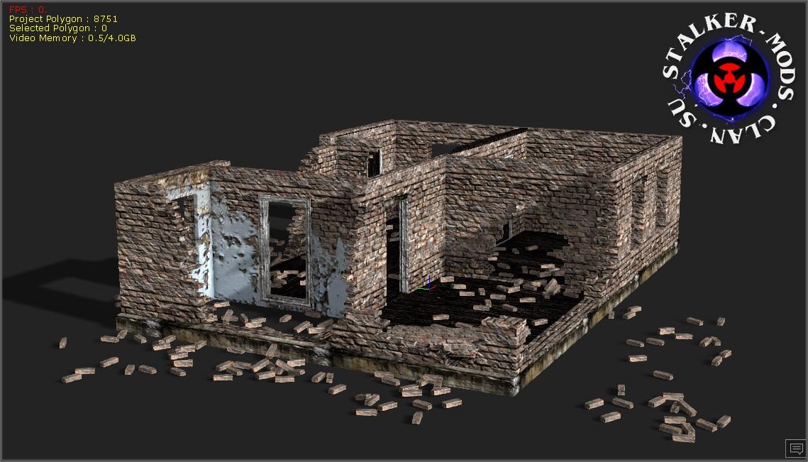 Кирпичные развалины из сталкера