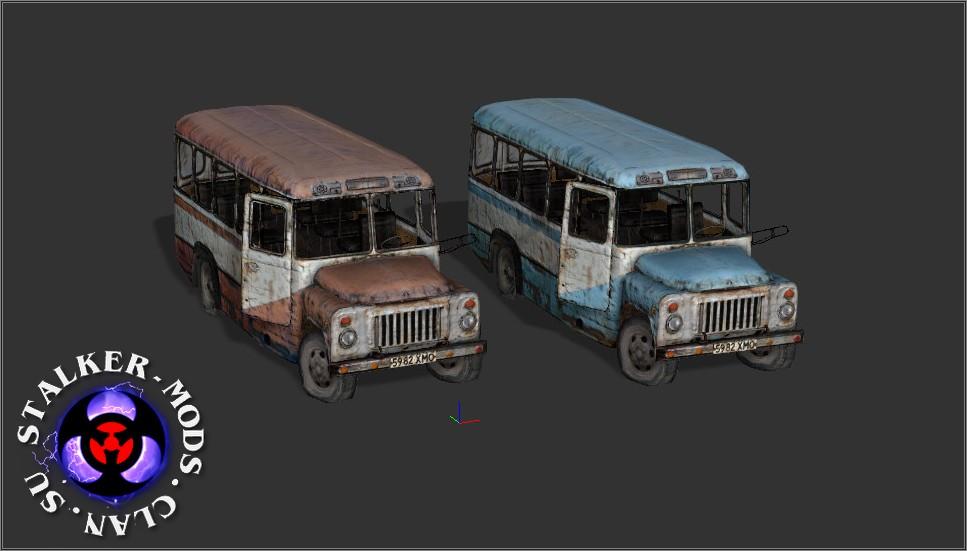 Автобусы из игры STALKER дляiClone