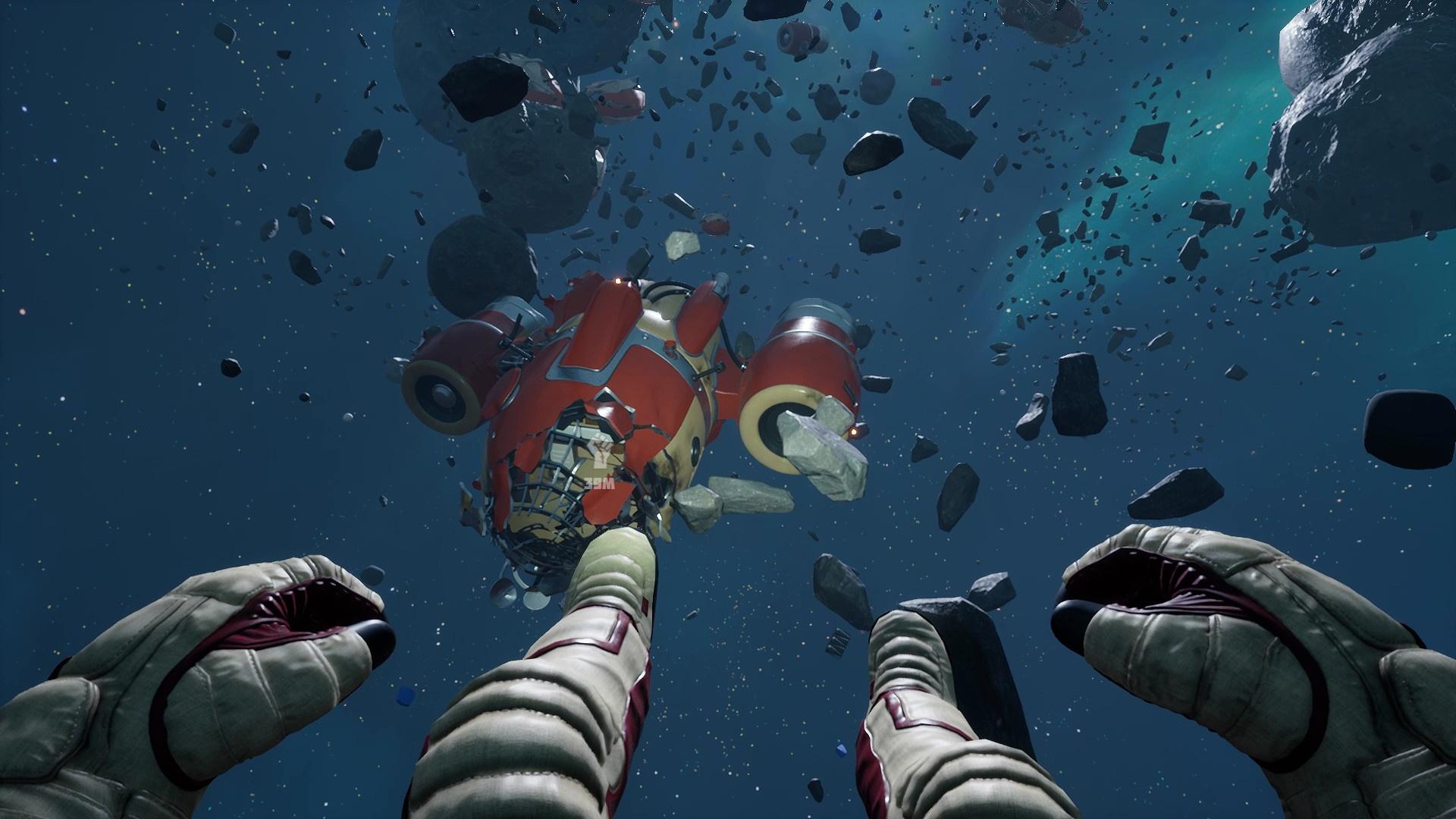 В новом трейлере Breathedge космонавт отдыхает в ванне на поверхности астероида