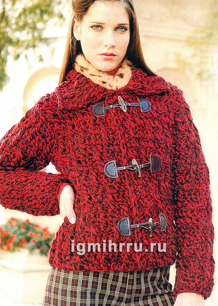 Модная вязаная кофта