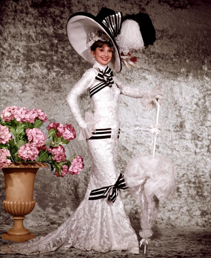Одри Хепберн и ее платье на скачках