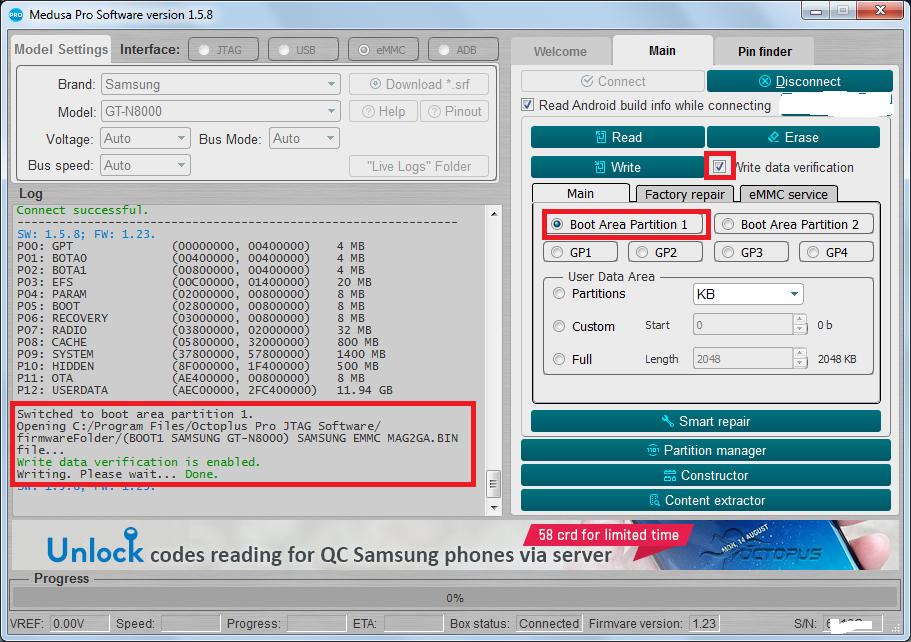 Samsung N8000 после замены флэшки - не включается  [Архив
