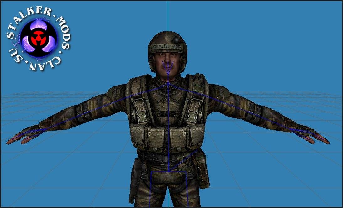 Модель военного без очков