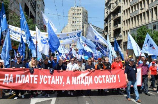 Сербия, Белград, первомай, демонстрация, протесты