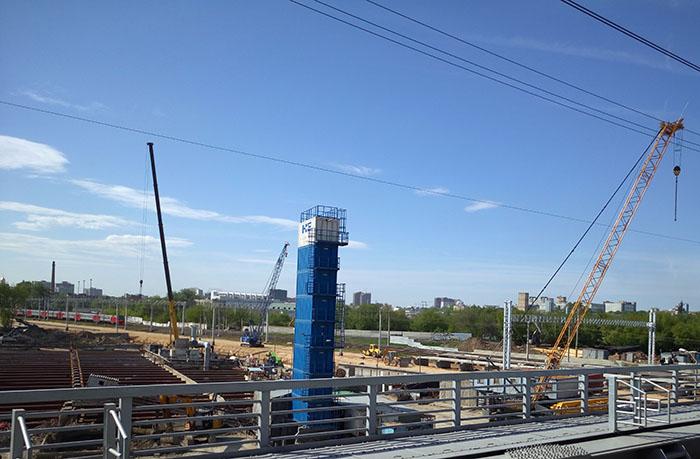 Земляные работы у платформы Карачарово