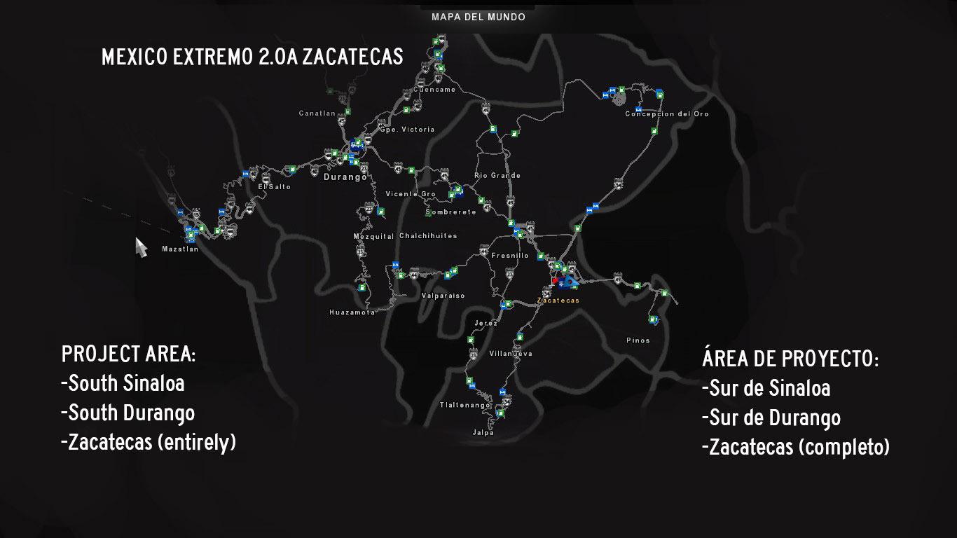 Mexico Extremo Zacatecas v.2.0A for ATS 1.31