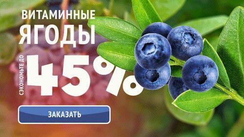 Промокод Беккер. Голубика, черника, арония, жимолость со скидкой до 45% + Бесплатная доставка + 10 упаковок семян в подарок