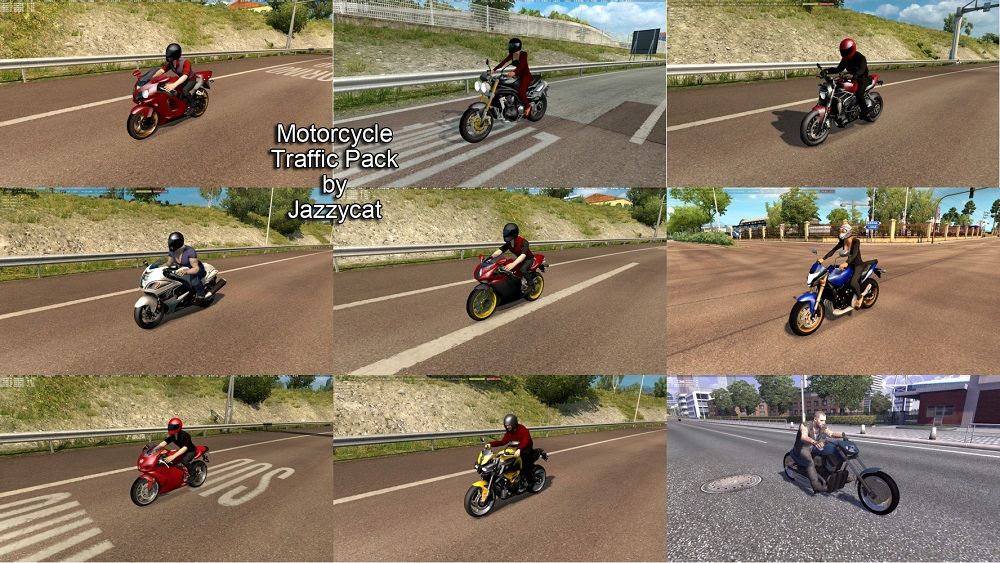 Motorcycle Traffic Pack v1.0