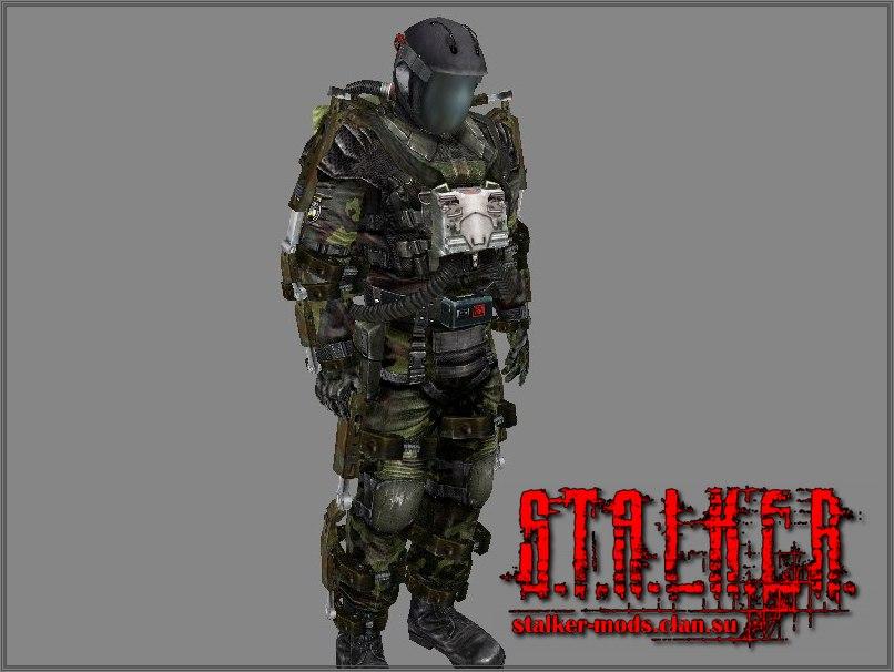 Модель прототипа тяжёлого костюма Военных