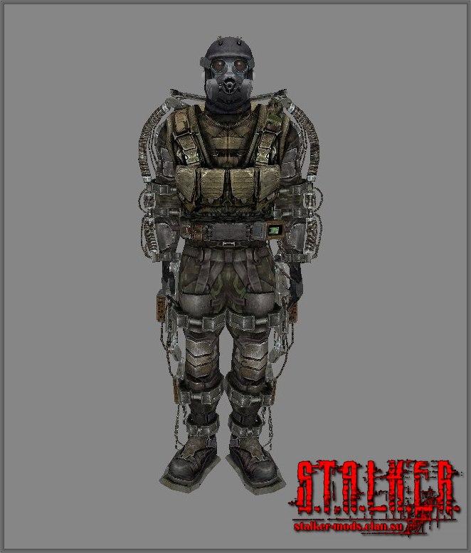 Военный экзоскелет с разгрузкой