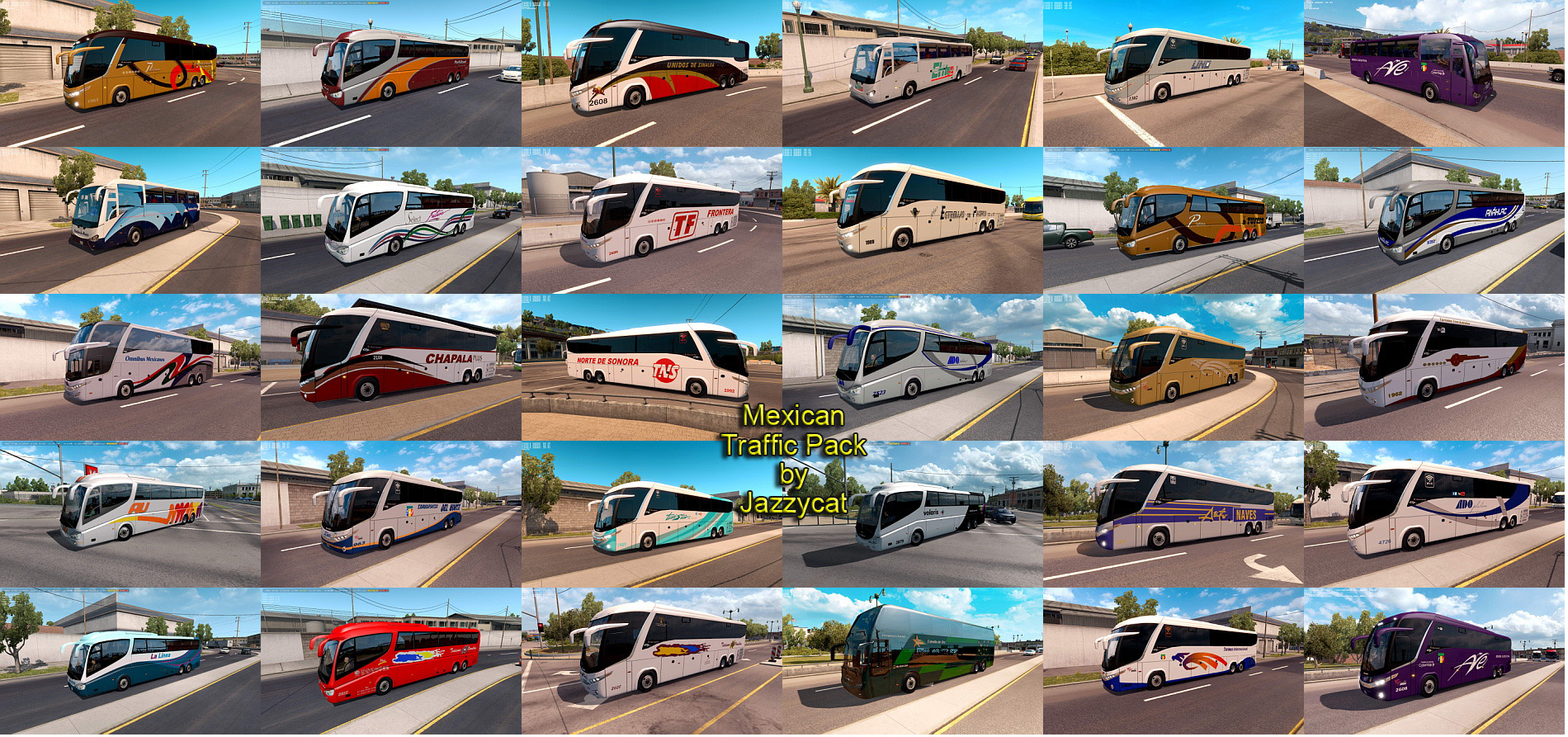 Mexican Traffic Pack v1 7 1 by Jazzycat (02 10 2018) - SCS