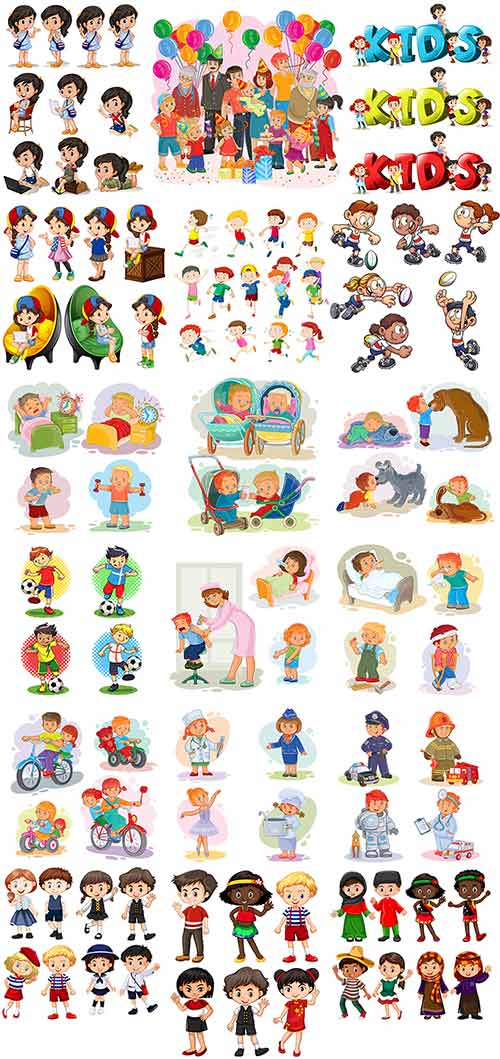 Дети в векторе / Children in vector