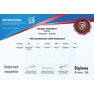 Sergey Gunyakov Russian (Mother Language) Seniors Diploma 2018