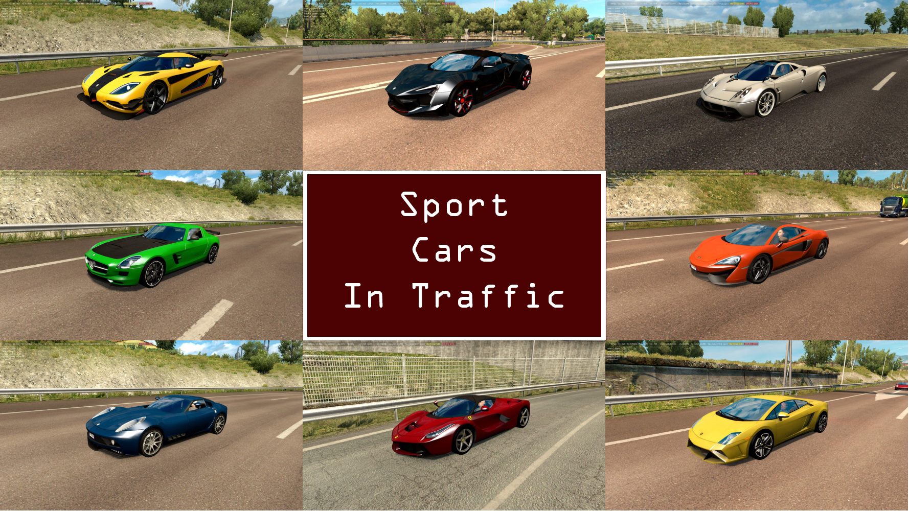 Sport Cars Traffic Pack v1.0
