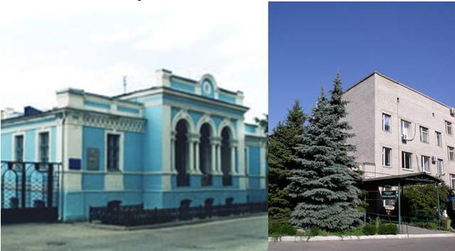 Административный корпус и бактериологическая лаборатория  ГС «Луганская городская СЭС» МЗ ЛНР