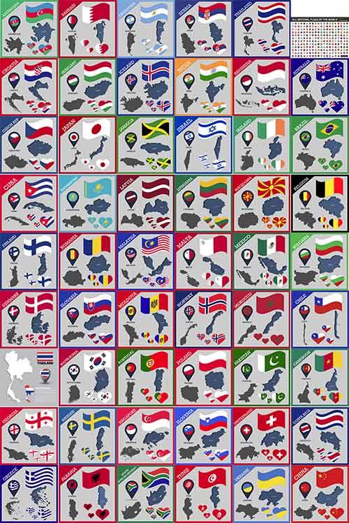 Флаги и символика стран мира в векторе / Flags and symbols of the countries of the world in vector