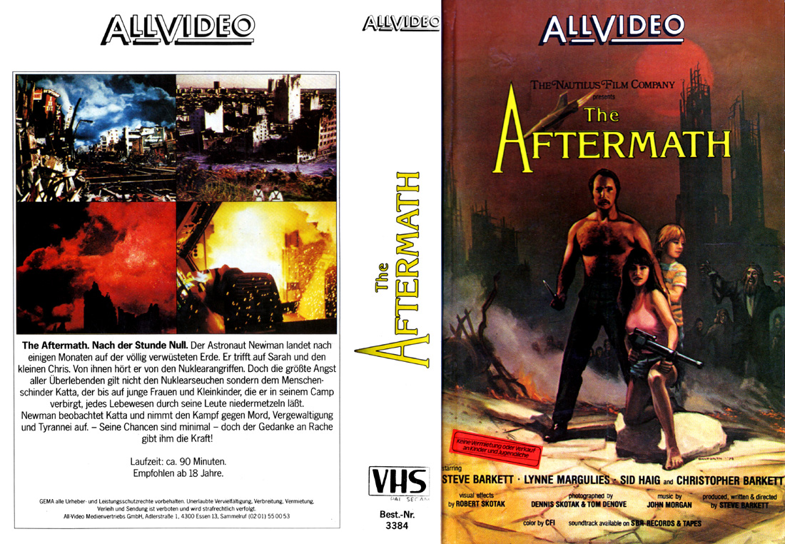The Aftermath German AllVideo VHS