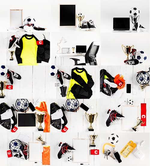 Футбольные композиции - Растровый клипарт / Football compositions - Raster clipart