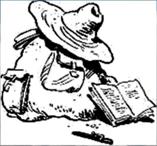 Рисунок С. Забалуева к повести С. Голицына За берёзовыми книгами (37)