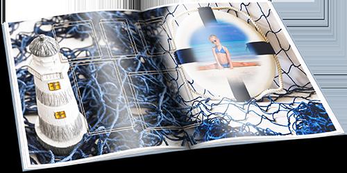 Летний фотоальбом с морскими фонами - Шумит прибой, зовет с собой