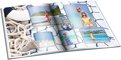 Summer photo album with marine backgrounds - Noise of the surf