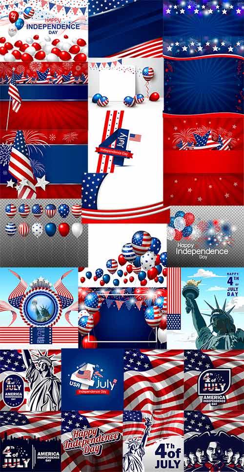 4 июля. День США - Векторный клипарт / 4th of July. American Day - Vector Graphics