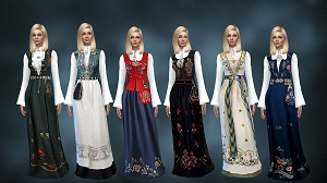 Старинные наряды, костюмы - Страница 5 22241146