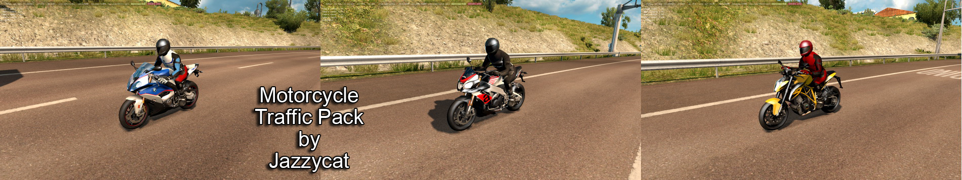 Motorcycle Traffic Pack v1 3 by Jazzycat (upd 09 08 2018