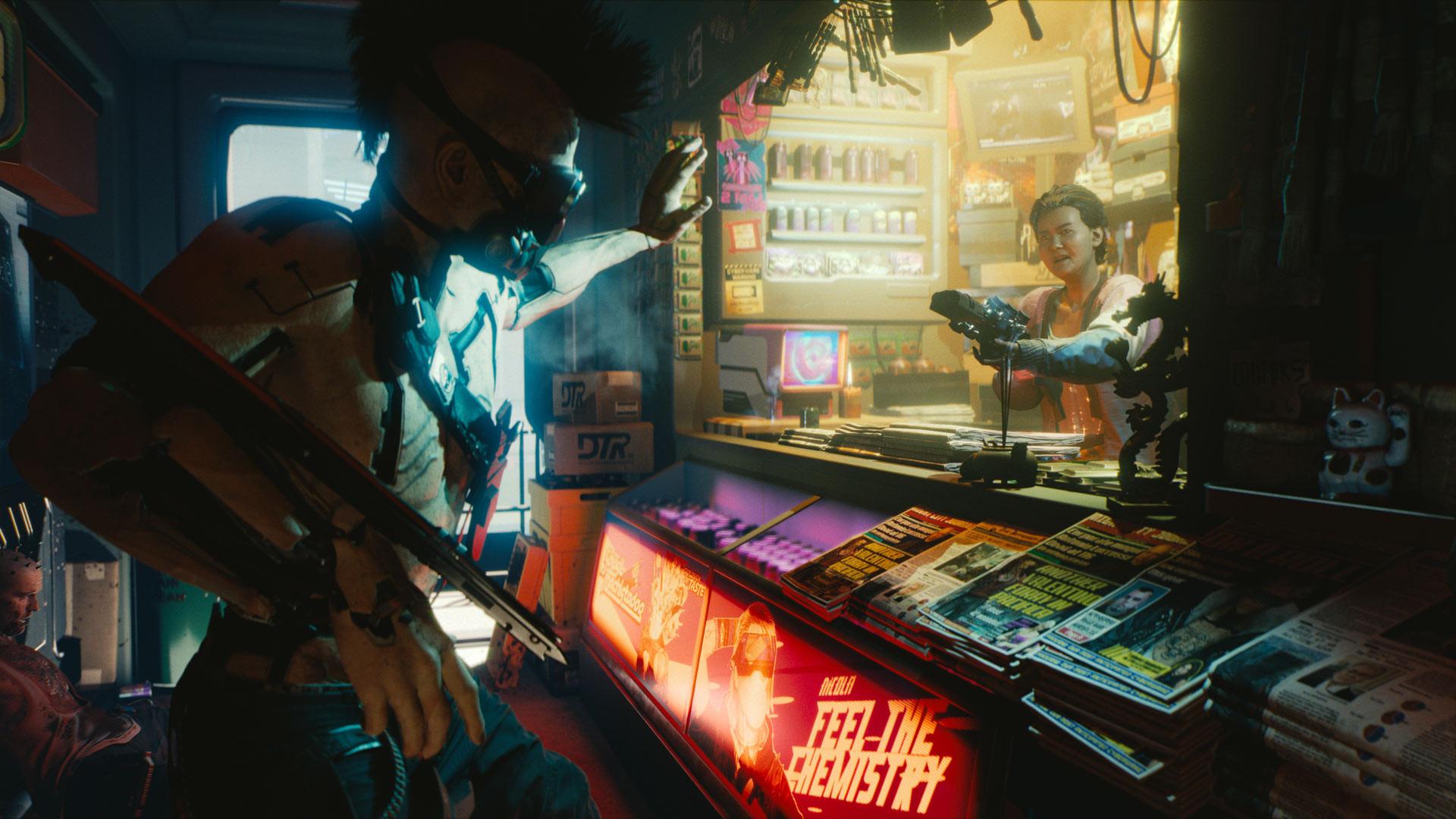 В Cyberpunk 2077 будет виртуальная система, позволяющая людям сбежать от реальности