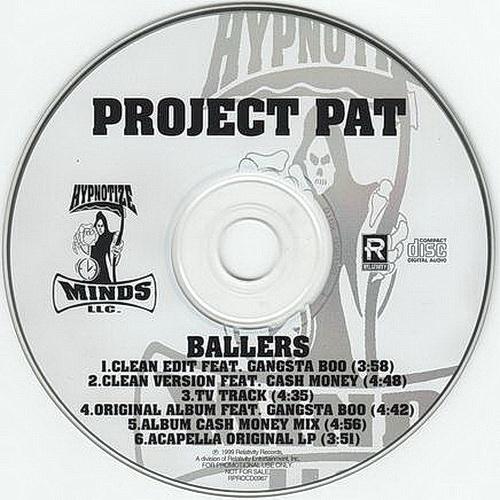 Project Pat - Ballers (CD Single, Promo)