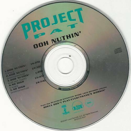 Project Pat - Ooh Nuthin` (CD Single, Promo)