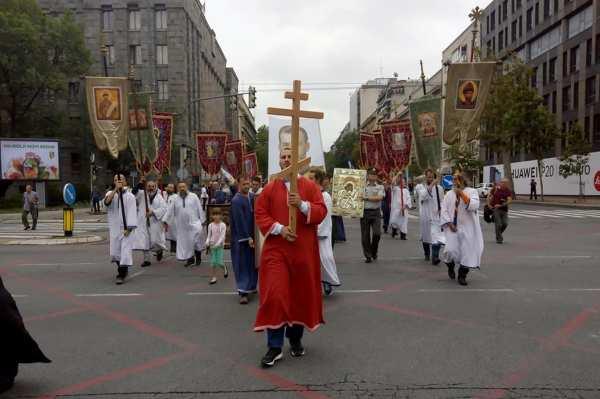 крестный ход, царственные мученики, Сербия, Белград