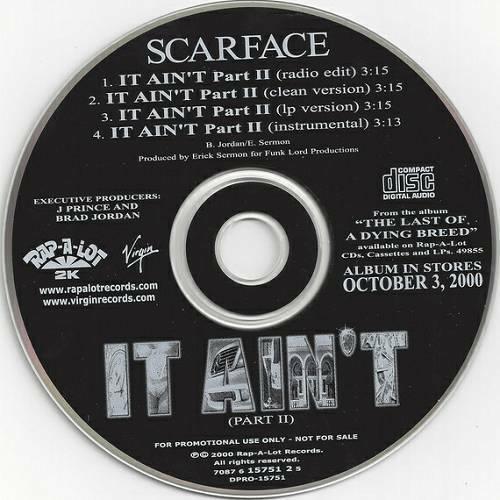Scarface - It Ain`t Part II (CD Single, Promo)