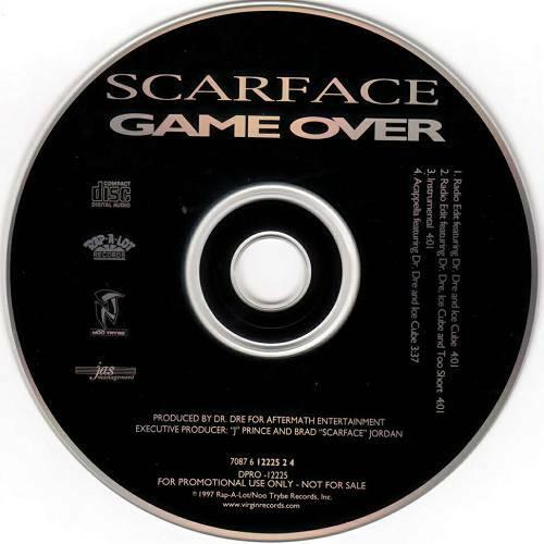 Scarface - Game Over (CD Single, Promo, Rap-A-Lot)